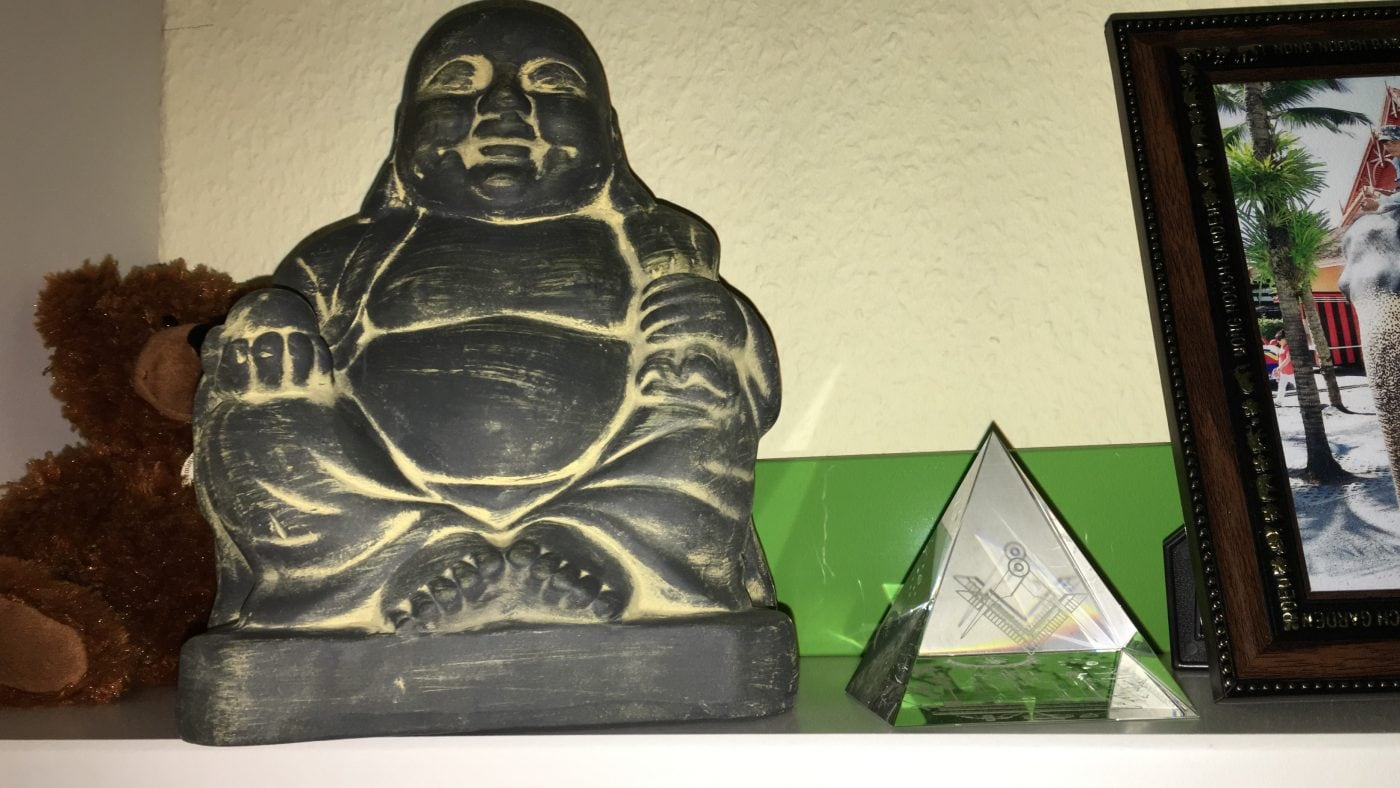 Buddha and the pyramid together