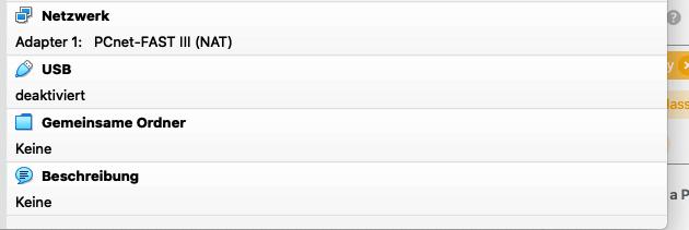 VirtualBox, configure shared folder