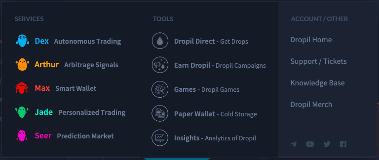 The Dropil ecosystem